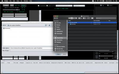 Select iCloud Drive folder in APP on MacOS