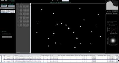 Star Analysis detect more faint stars starmap