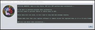 Warning on 8bits data