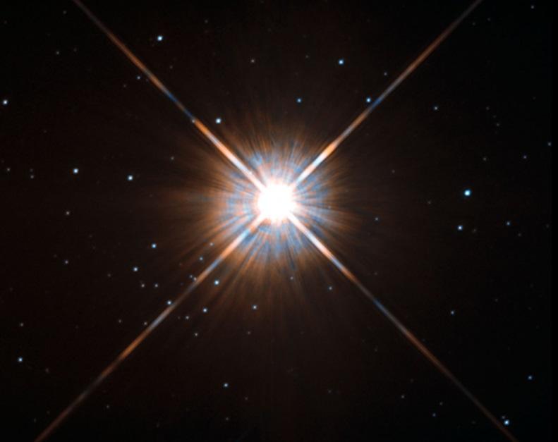 Proxima Centauri é a estrela mais próxima do Sol de que se tem conhecimento: fica a 4,22 anos-luz. (Crédito: ESA/Hubble & NASA)