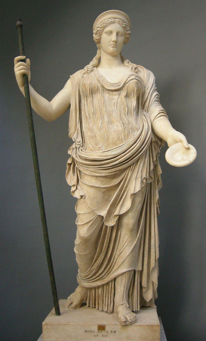 Hera, esposa e irmã de Zeus, deusa das mulheres e do casamento.