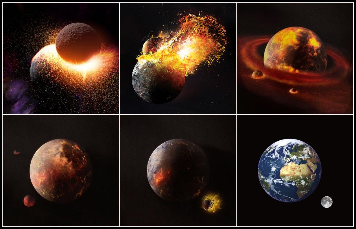 """Résultat de recherche d'images pour """"collision theia terre"""""""