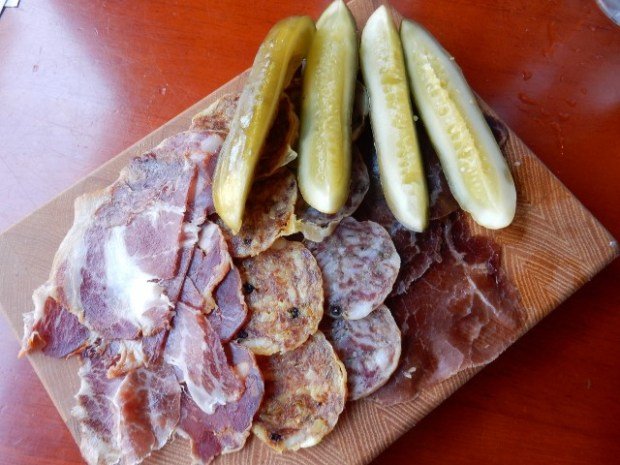 A charcuterie plate at Primo Bistro.