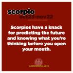 scorpios can predict the future