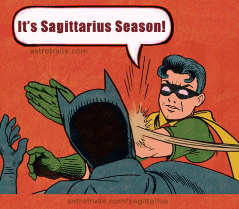 funny sagittarius zodiac sign meme batman robin