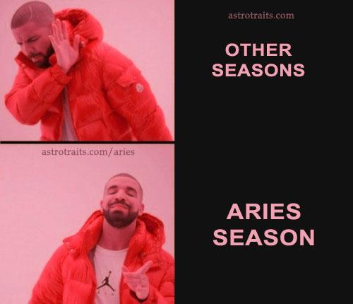 drake aries meme other seasons aries season