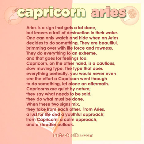 capricorn aries signs