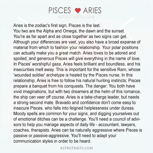 pisces hearts aries
