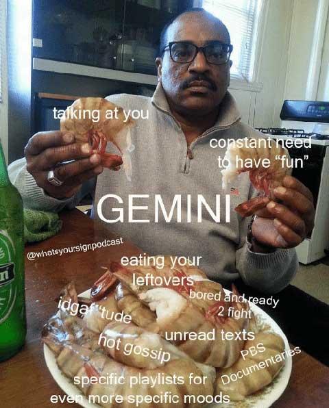 gemini moods meme