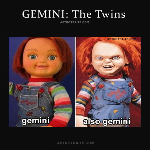 gemini chuckie doll meme