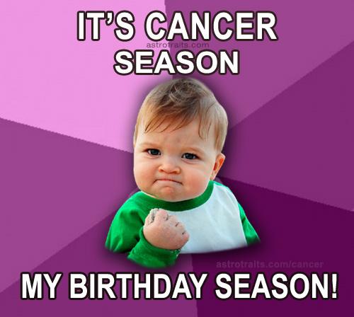baby meme cancer season my birthday season