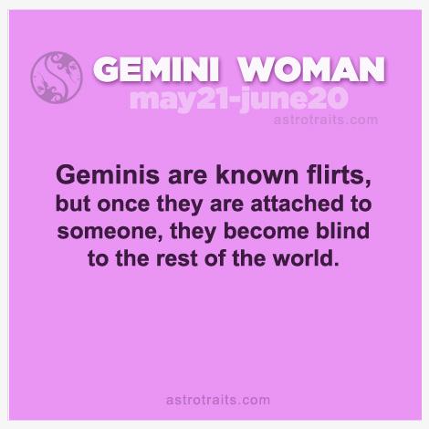 gemini woman flirt always