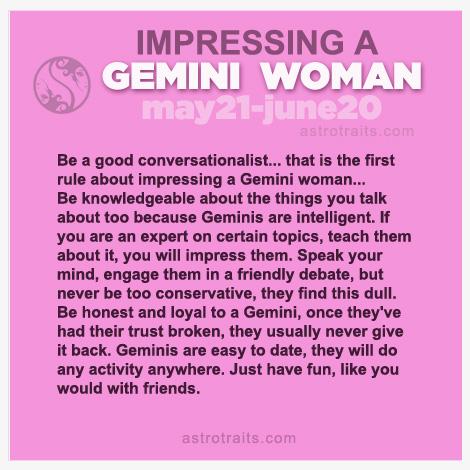 impress gemini woman