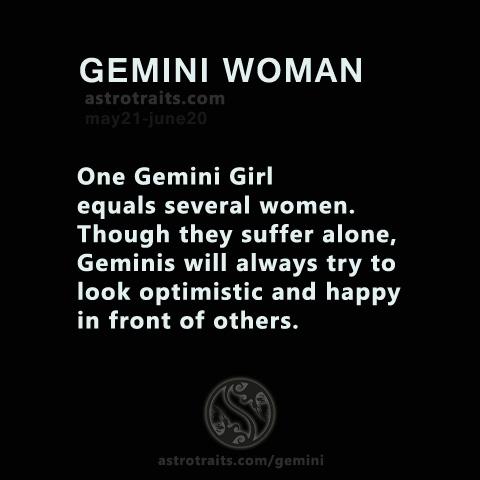 one gemini girl