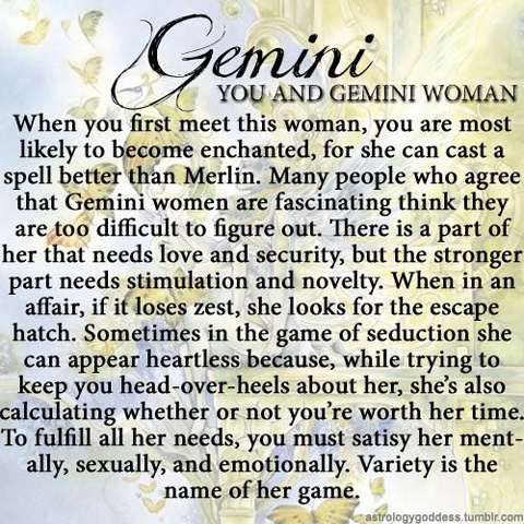 You and the Gemini Woman