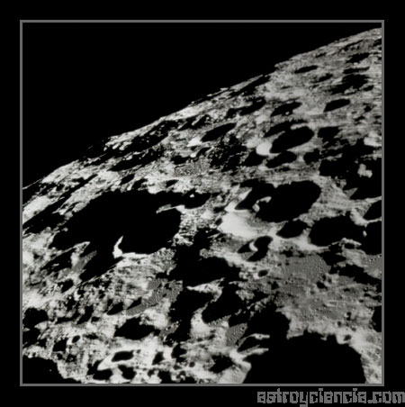 Superficie de la cara oculta de la Luna