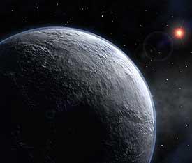 Montaje de un planeta extrasolar