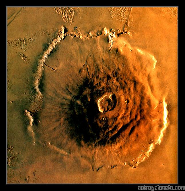 El Monte Olimpo del Planeta Marte
