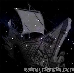 Figura de la constelación de la Vela