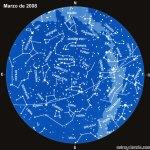 El cielo en marzo de 2008