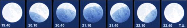 El día 16 se produce un eclipse parcial de Luna