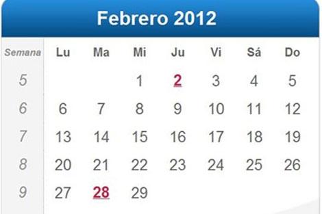 febrero de 2012 será bisiesto