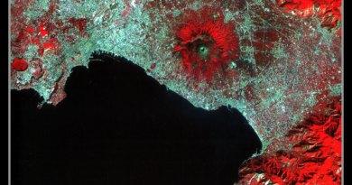 Volcán Vesubio en Nápoles, Italia.