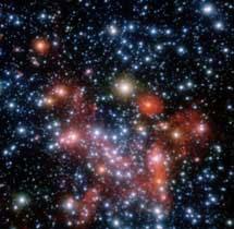 Estrellas orbitando el centro galáctico