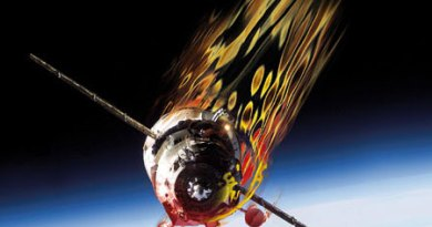 Recreación de un impacto contra un satélite artificial