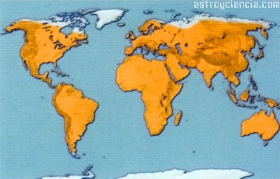 Mapa de las zonas polares del mundo
