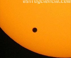 Imagen del último tránsito de Venus
