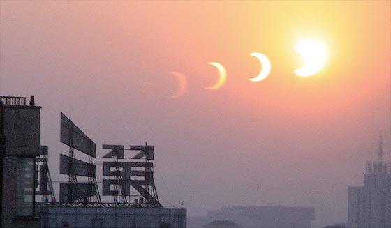 Eclipse del 20 de Mayo desde Pekin