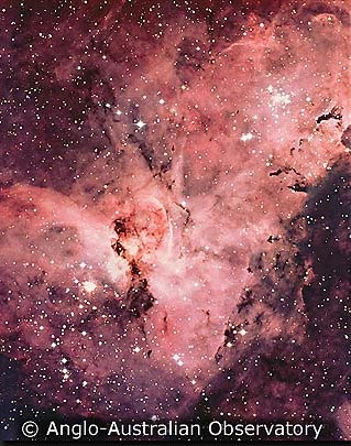 Imagen captada por el telescopio Anglo-Australiano