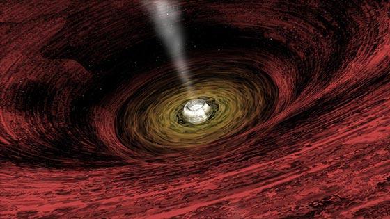 Recreación de la Tierra dentro de un agujero negro