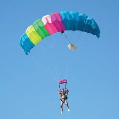 Experience the peaceful canopy drift back to Earth with Adventure Skydiving Tennessee.