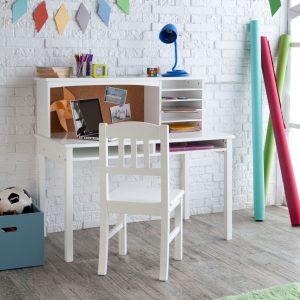 petit bureau blanc pour chambre d'enfant