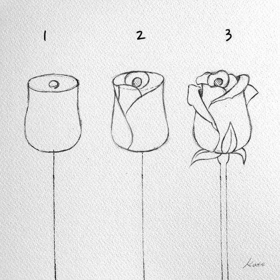 Comment Dessiner Une Rose 37 Idees Tutos Etapes Par Etapes