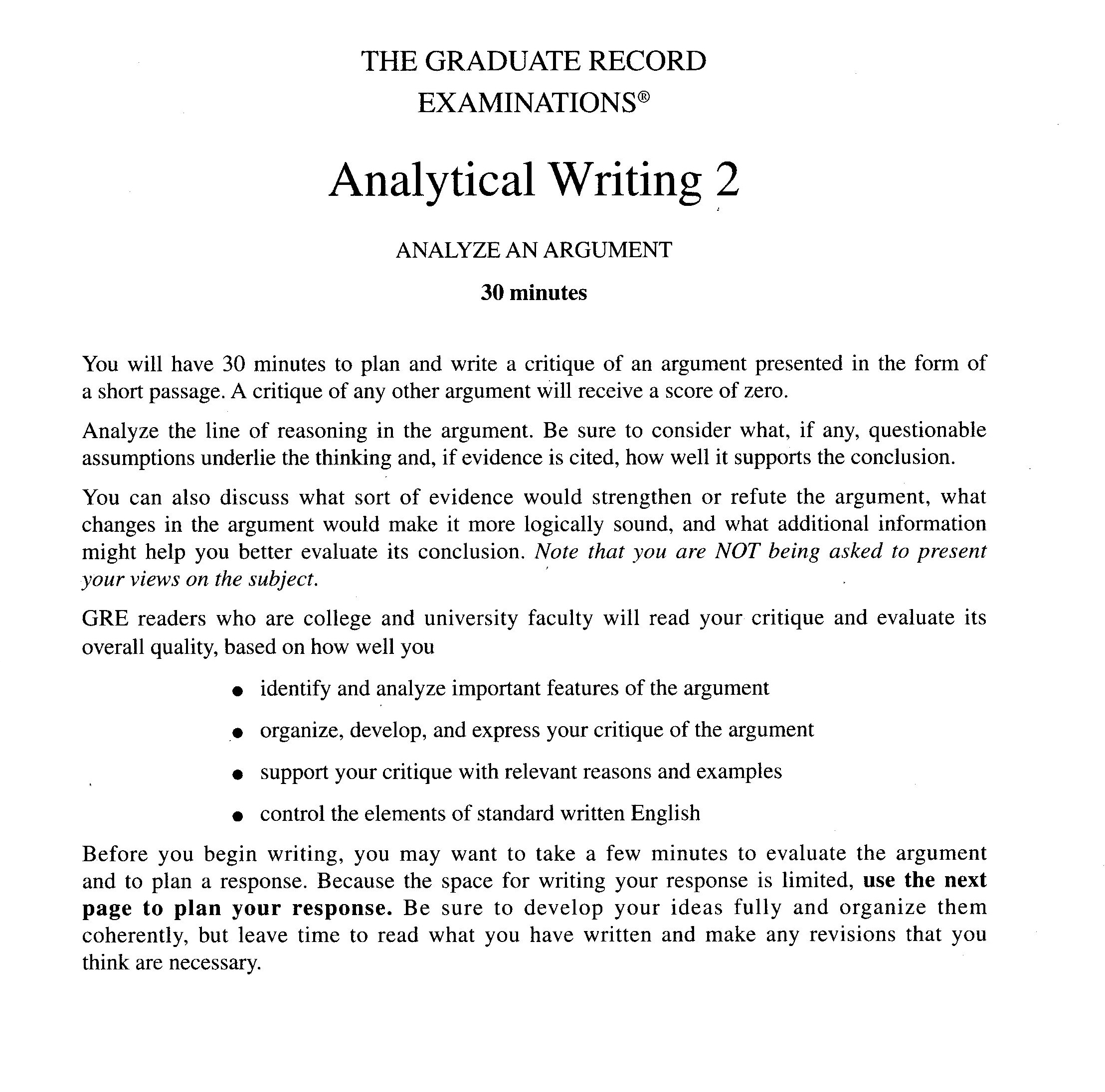 gre essay prompts analytical writing gre essay examples ...