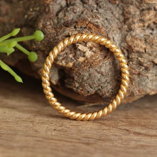 Buy Twisted Rope Wedding Band Ring For Her 18k Yellow