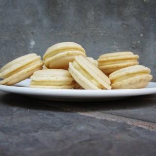 White Chocolate French Macarons