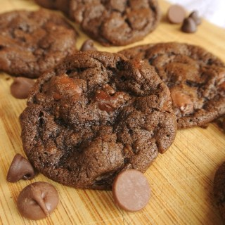 Chewy Double Chocolate Chip Cookies