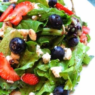 Mesclun Salad with Maple Balsamic Vinaigrette