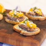 Duck Confit and Orange Crostini
