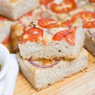 Tomato Focaccia with Infused Olive Oil