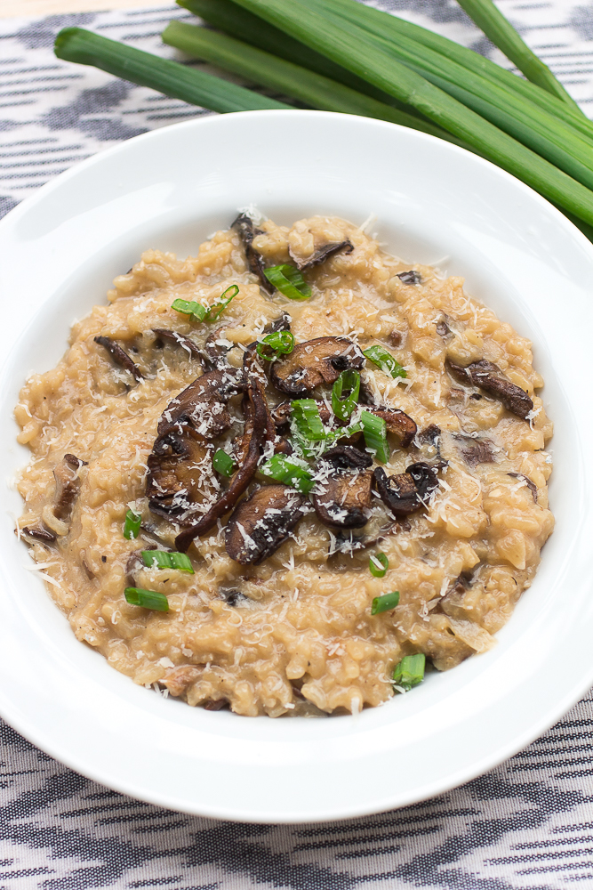 Creamy Mushroom Risotto: classic italian comfort food at it's finest