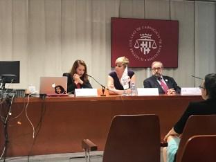 De izq. a derecha: Alja Pestar, Patricia Suárez y Boštjan M. Zupan?i?,