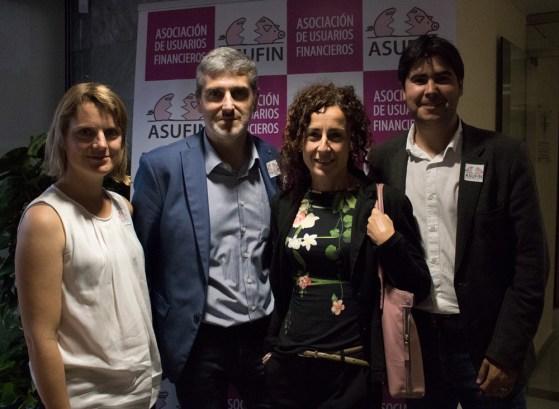 Abogados colaboradores de ASUFIN. De izq. a derecha: Laia Manté, Oscar Serrano, Montse Serrano, Carles Perdiguero