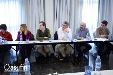 Reunión Trimestral de abogados colaboradores de ASUFIN. Abogados presentes en la reunión.