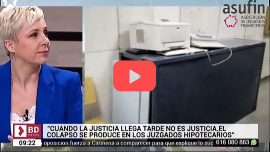 Wonder Woman en Telemadrid sobre los Juzgados Especializados.