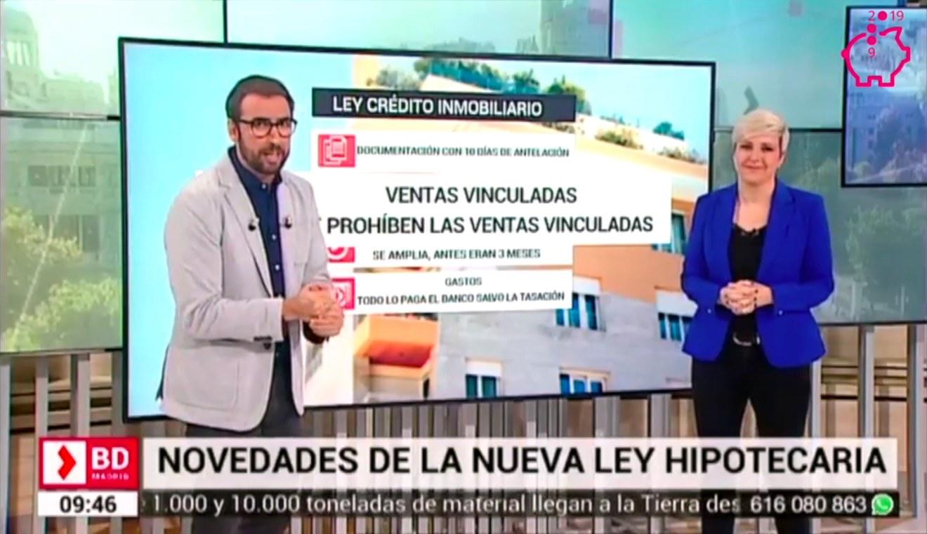 Patricia Suárez sobre la Nueva Ley Hipotecaria y los Gastos Hipotecarios - TELEMADRID - 19-03-19